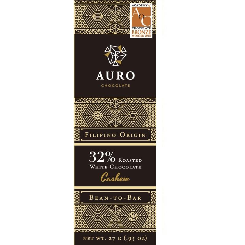 AURO Chocolate | Weiße Schokolade »Roasted Cashew« 32% 27g MHD 12.11.2021
