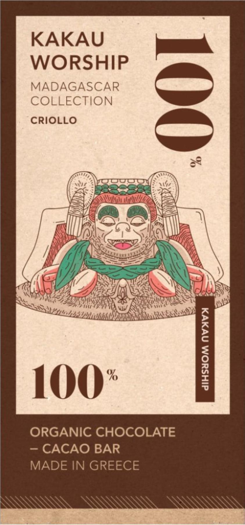 KAKAU WORSHIP | Schokolade »Madagascar Criollo« 100% | BIO