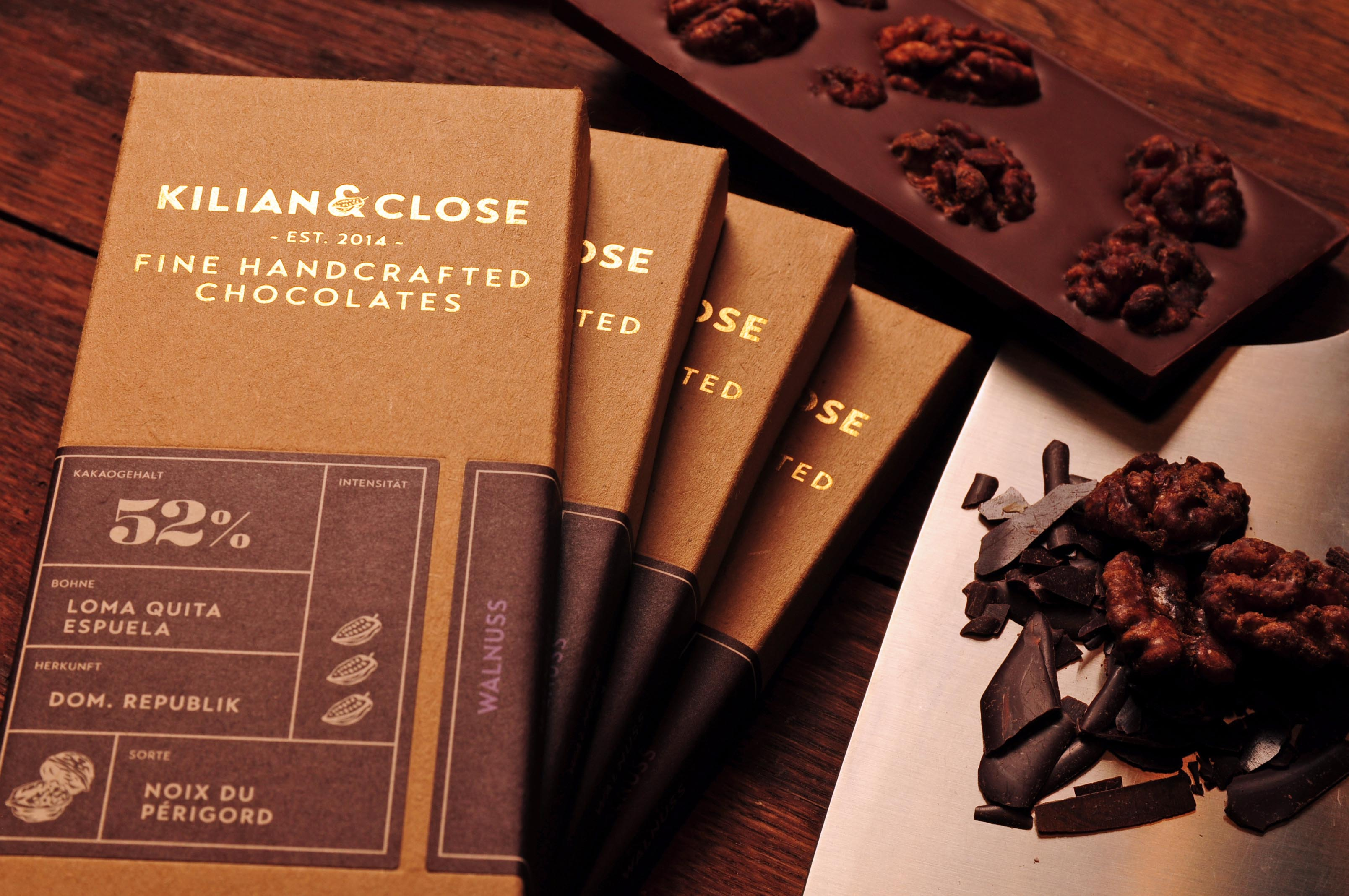 KILIAN & CLOSE | Schokolade mit Walnuss 52% | BIO