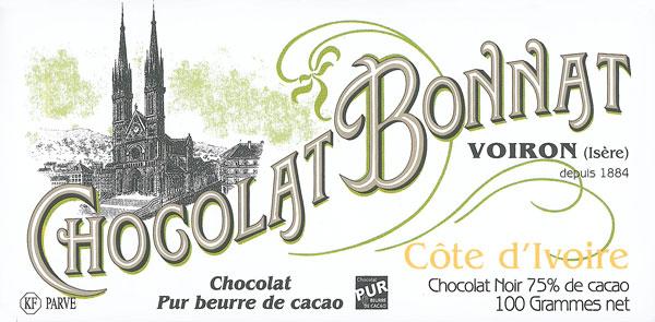 BONNAT Dunkle Schokolade | Chocolat »Cote d Ivoire« 75%