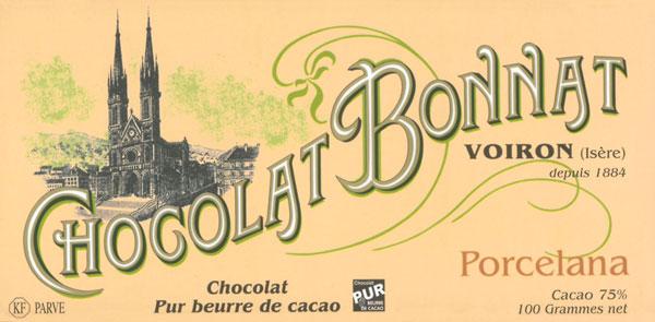 BONNAT Dunkle Schokolade   Chocolat »Porcelana« 75%