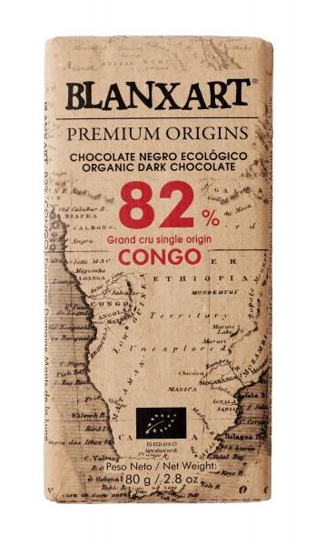 BLANXART   Schokolade Grand Cru Single Orgin »Congo« 82% - 80g