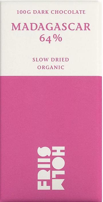 FRIIS-HOLM   Schokolade »Slow Dried« Madagascar 64%   BIO