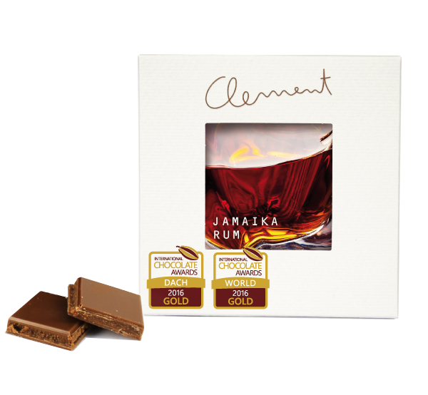 CLEMENT   Goldprämierte Vollmilchschokolade & Rum »Jamaika Rum« 38%