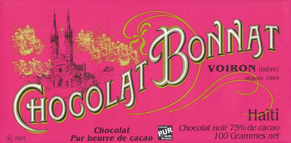 BONNAT Dunkle Schokolade   Chocolat »Haiti« 75%