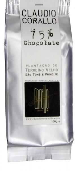 CLAUDIO CORALLO   Edelbitterschokolade 75% Kakao - 100g