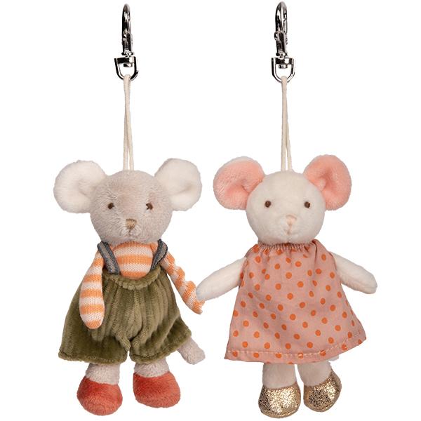 BUKOWSKI Design   Zwei Schlüsselanhänger - Die Mäuse »Ingefrid & Henry«