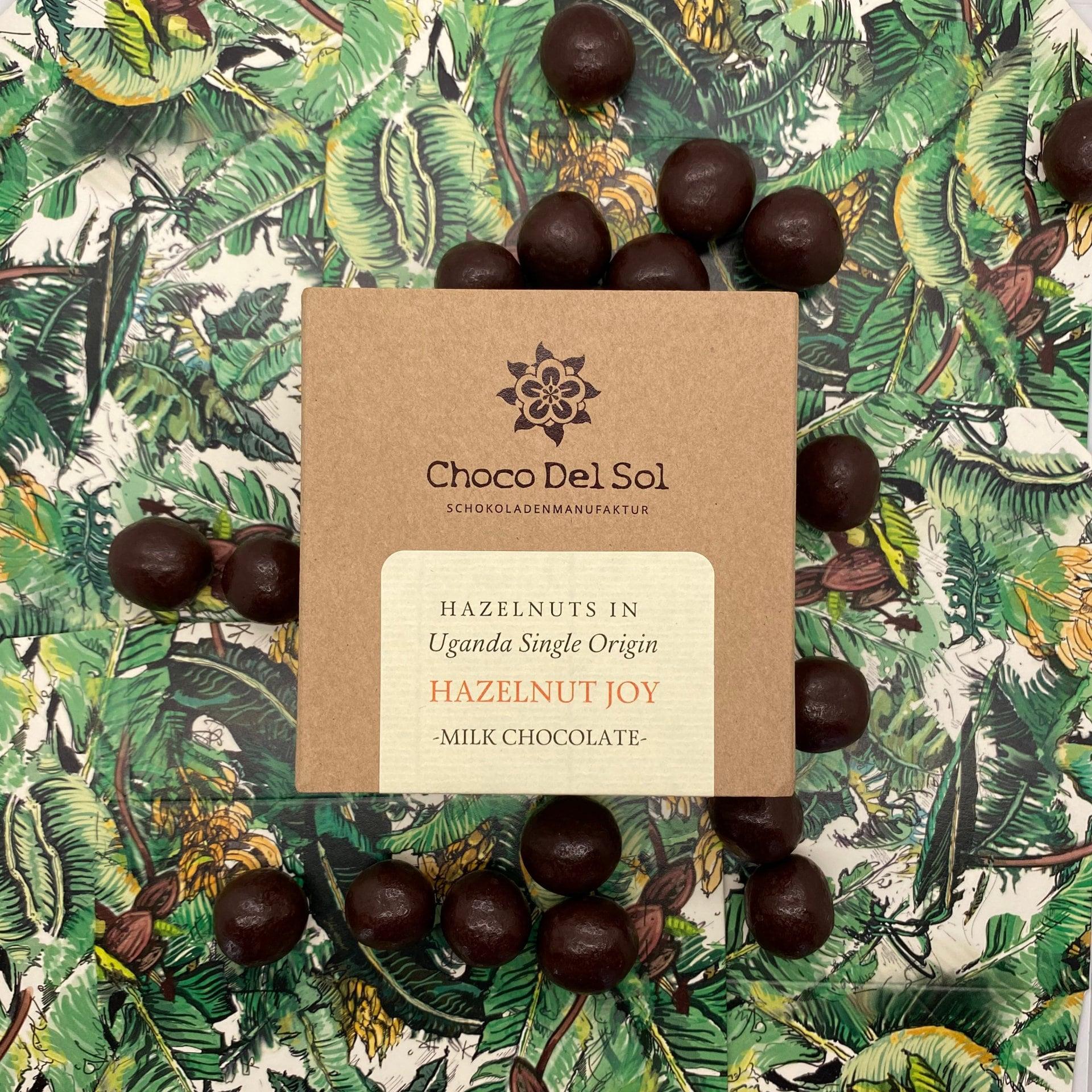 CHOCO DEL SOL | Schokoladendragees Haselnüsse & Milchschokolade »Hazelnut Joy« 55% | BIO
