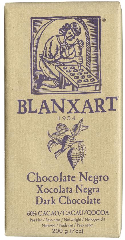BLANXART   Dunkle Schokolade »Chocolate Negro« 60% - 200g
