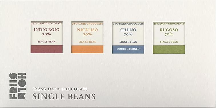 FRIIS-HOLM  | Schokolade »Single Beans« 70% - 4 x 25g