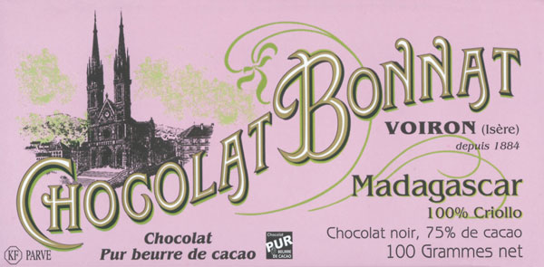 BONNAT Dunkle Schokolade | Chocolat »Madagascar Criollo« 75%