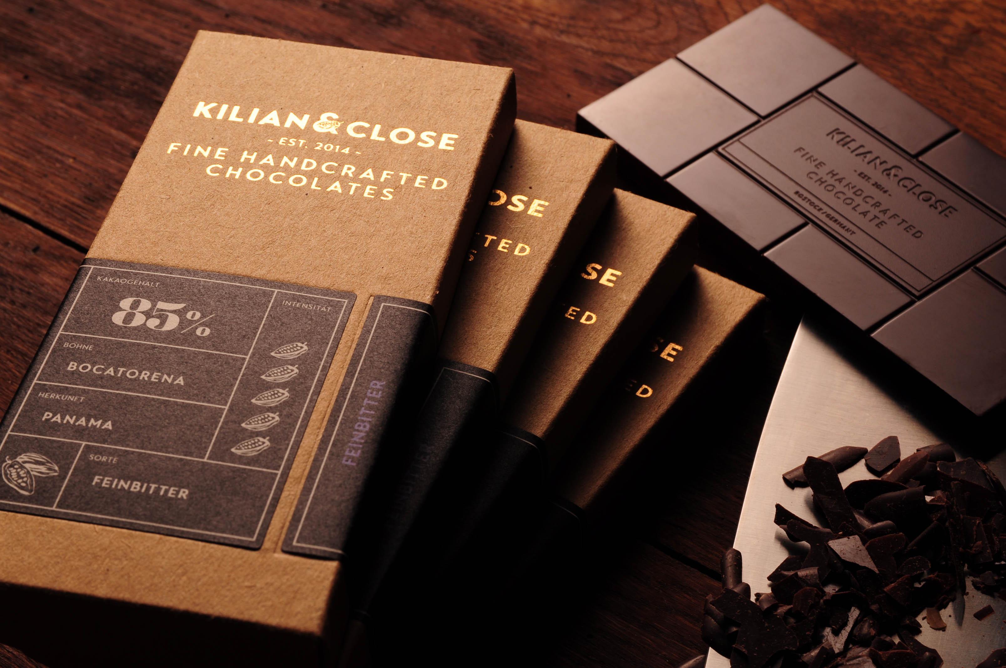KILIAN & CLOSE | Vegane Schokolade »Pure Feinmild Panama« 45% | BIO