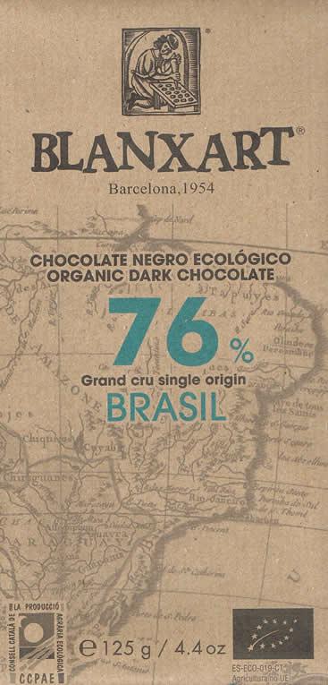 BLANXART   Dunkle Schokolade »Brasil« 76% - 80g
