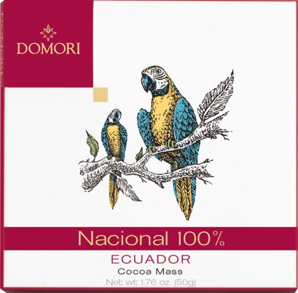 DOMORI Schokoladen   Ecuador »Arriba Nacional« Kakaomasse 100% - 50g