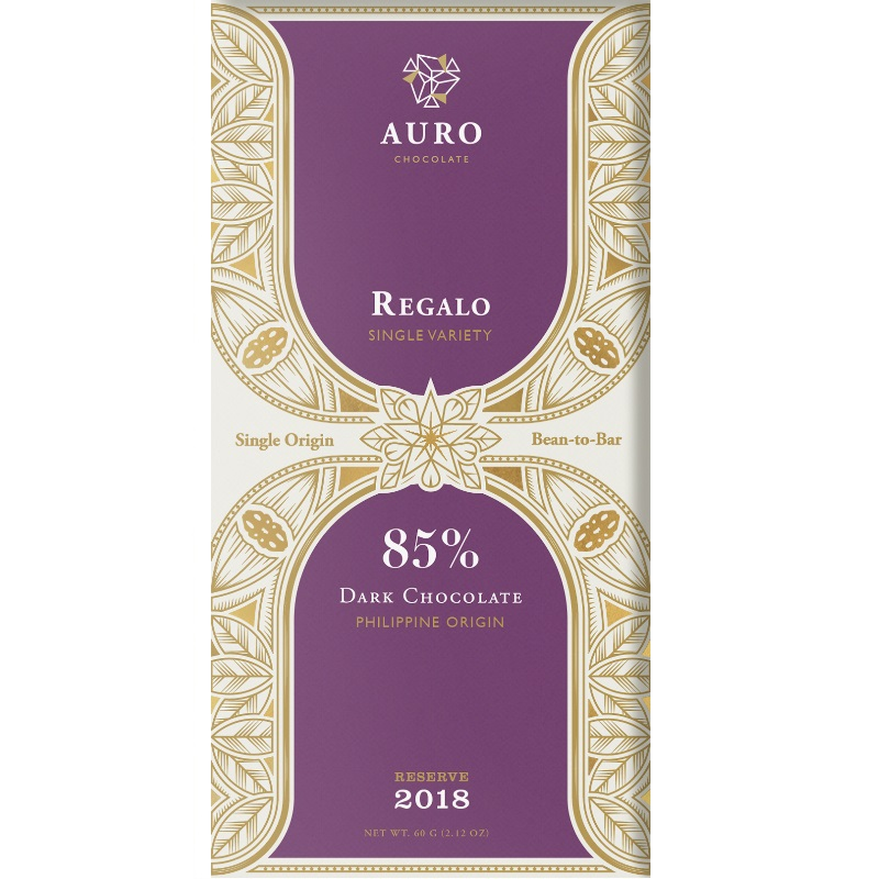 AURO Chocolate | Dunkle Schokolade »Regalo« 85% 60g MHD 14.10.2021