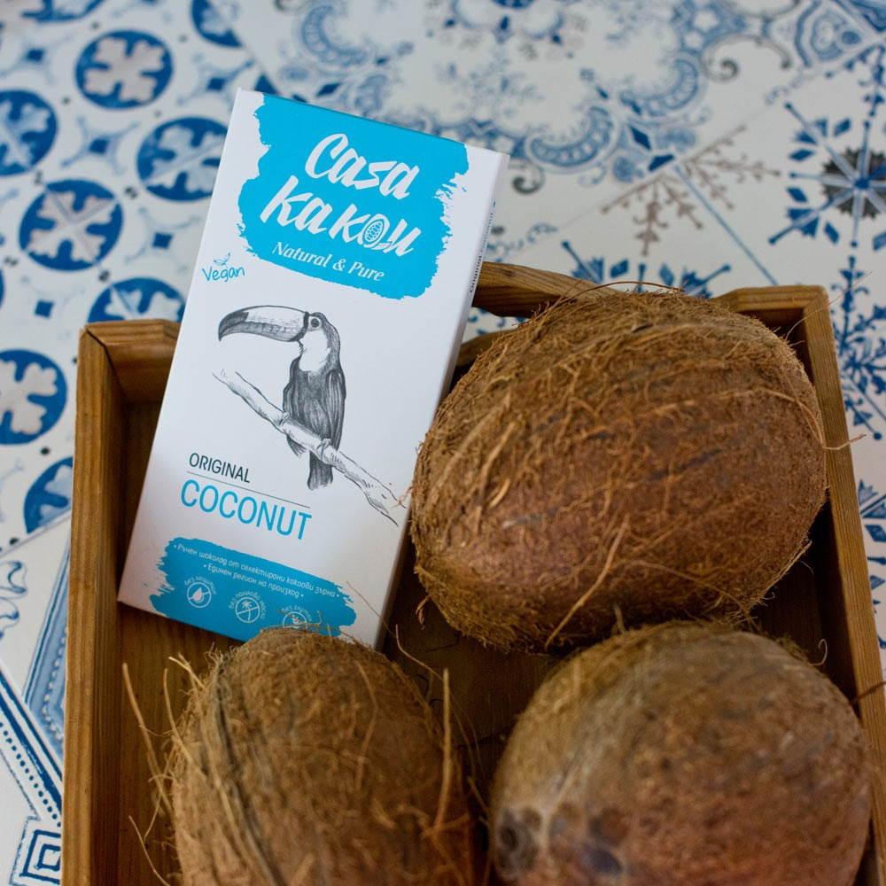CASA KAKAU | Dunkle Schokolade »Dark & Coconut« 51%