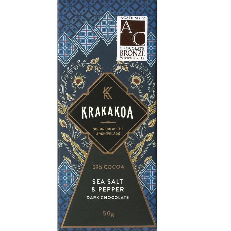 KRAKAKOA   Dunkle Schokolade »Sea Salt & Pepper« 59%