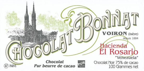 BONNAT Dunkle Schokolade | Chocolat »Hacienda El Rosario« 75%