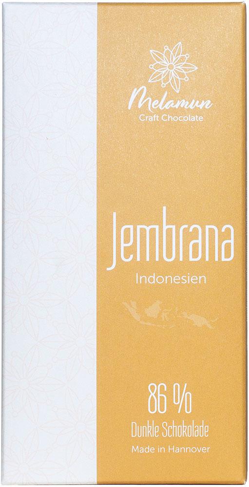 MELAMUN   Dunkle Schokolade »Jembrana - Indonesien« 86%
