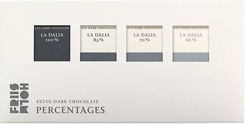 FRIIS-HOLM | Schokolade »Percentages« 70% - 4 x 25g MHD 30.11.2021