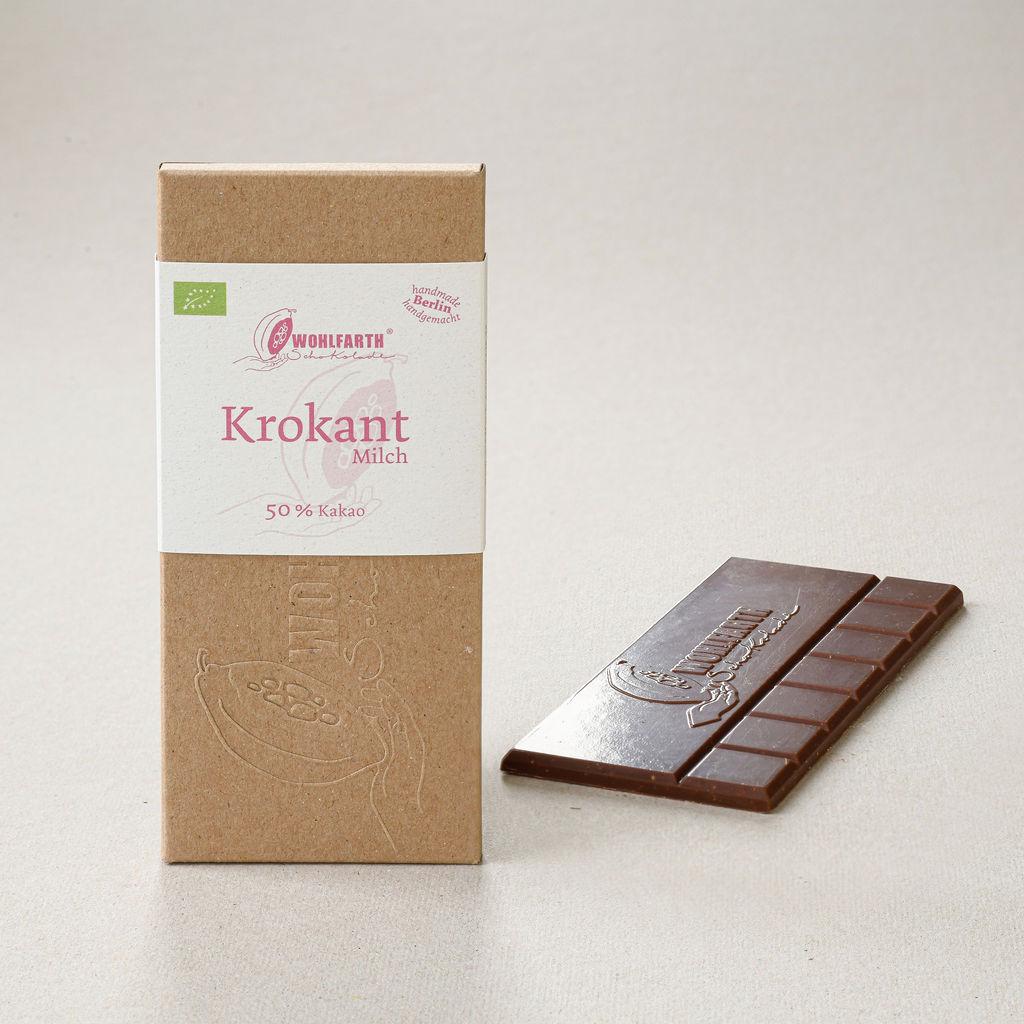WOLFARTH   Milchschokolade »Krokant« 70%   BIO