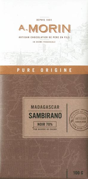 A. MORIN   Dunkle Schokolade Madagaskar »Sambirano« 70%