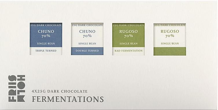 FRIIS-HOLM | Schokolade »Fermentations« 70% - 4 x 25g