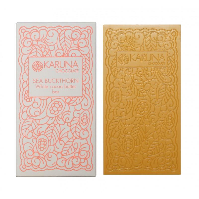 KARUNA Chocolate | White & Sanddorn »Sea Buckthorn« 39% | BIO MHD 30.11.2021