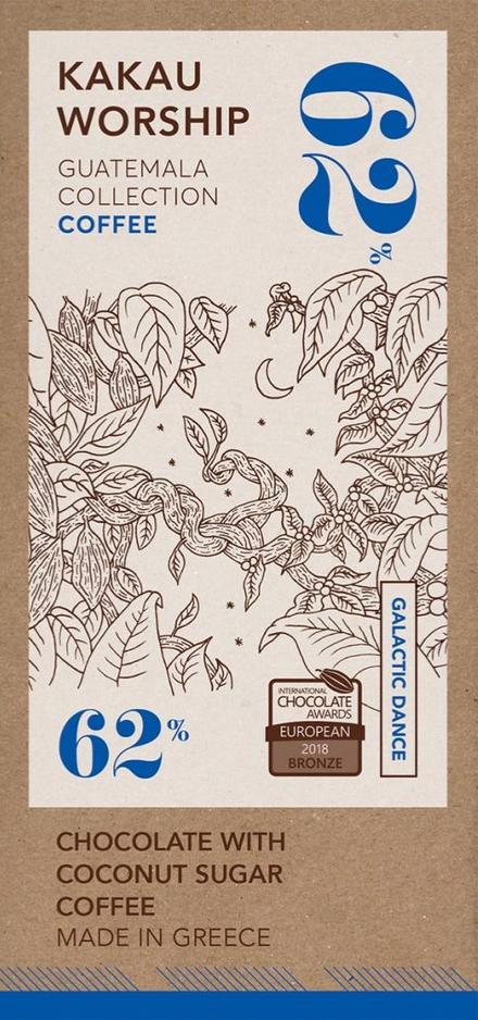 KAKAU WORSHIP | Schokolade »Coffee« 62% | BIO