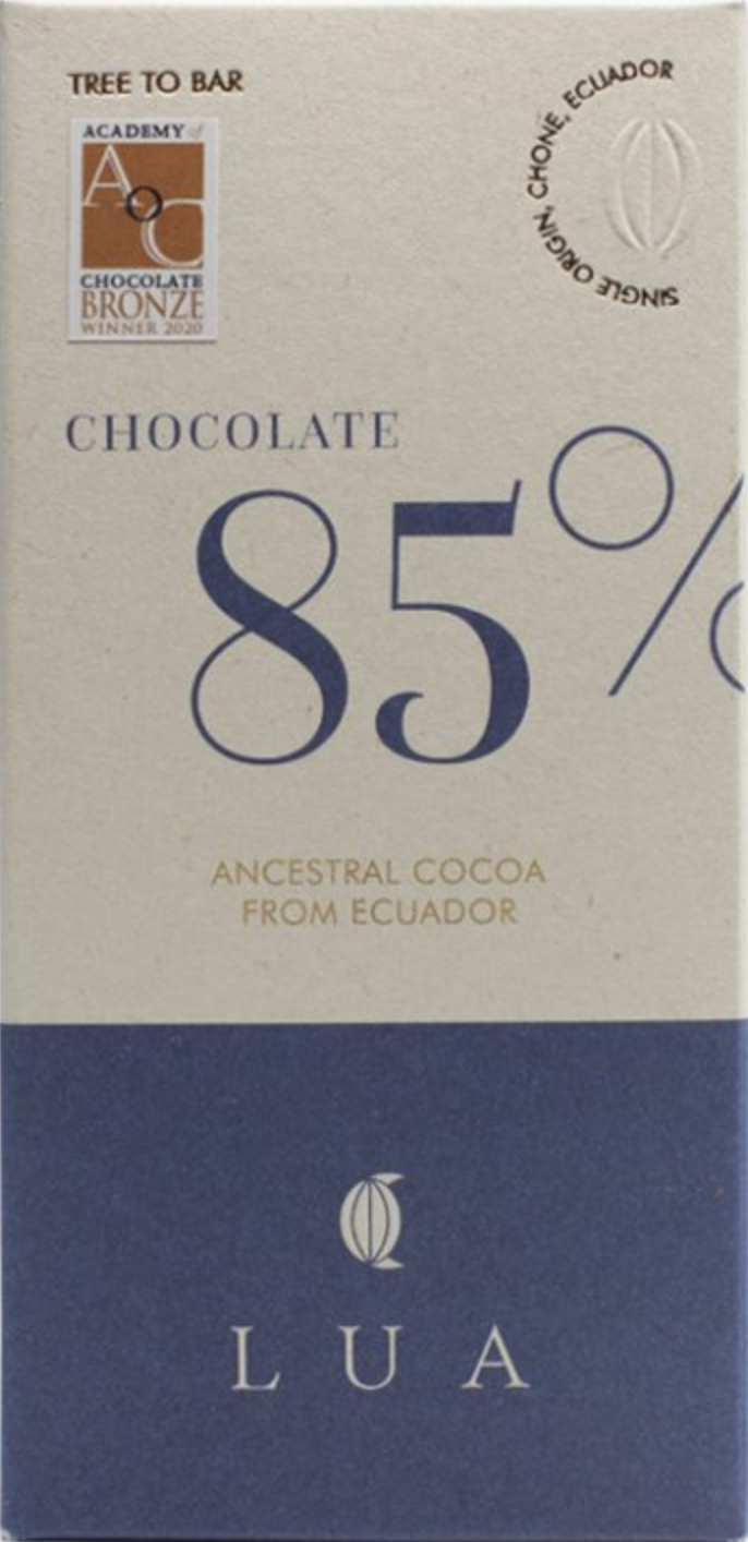 LUA Chocolate | Schokolade »Ecuador« 85% - 50g MHD 21.10.2021