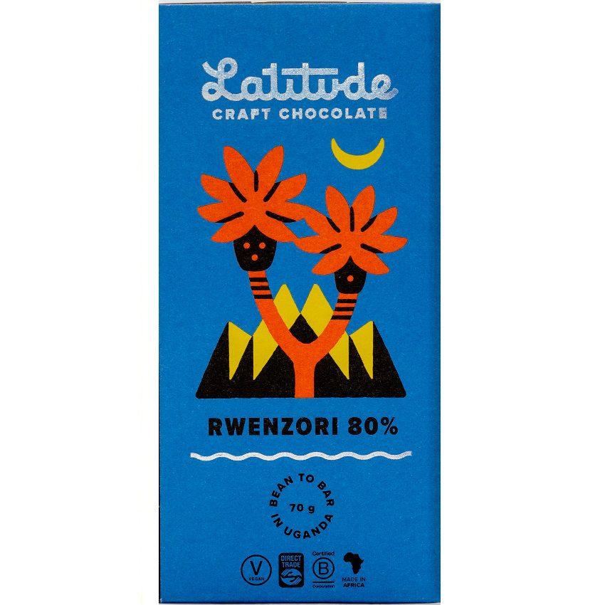 LATITUDE   Dunkle Schokolade »Rwenzori - Uganda« 80%