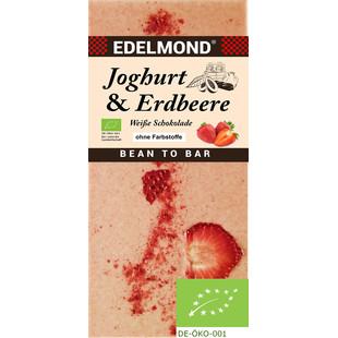EDELMOND   Weisse Schokolade »Joghurt & Erdbeere« BIO MHD 27.11.2021