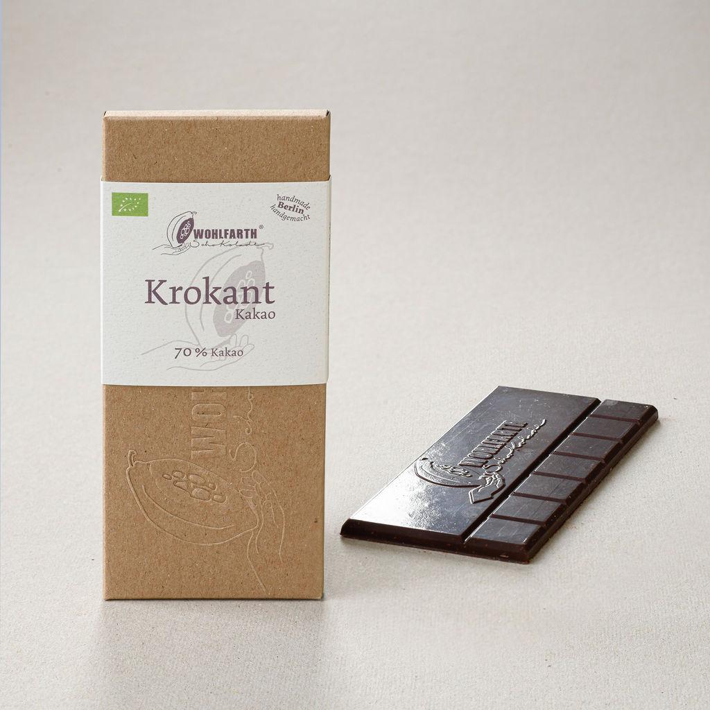 WOLFARTH | Dunkle Schokolade »Krokant« 70% | BIO