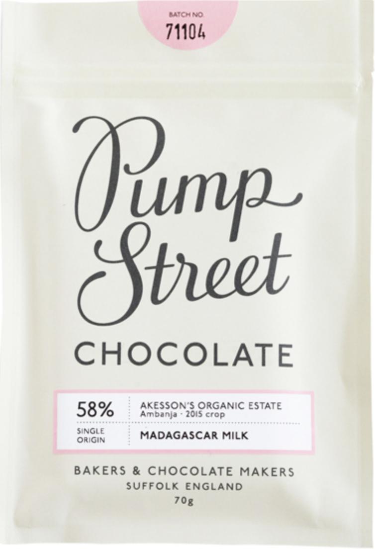 PUMP STREET BAKERY   Milchschokolade »Madagascar« Milk 58%