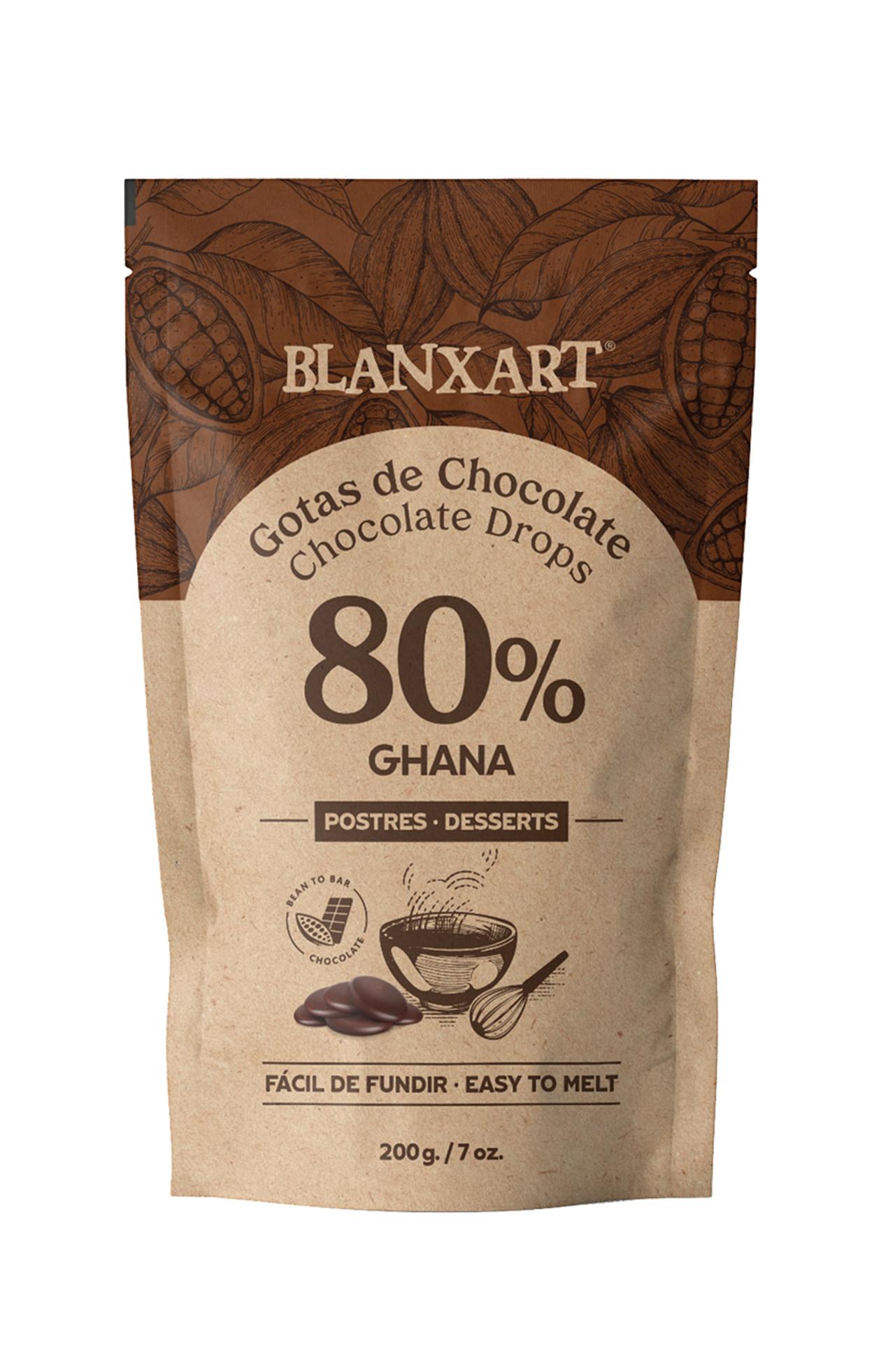 BLANXART   Schokoladendrops »Ghana« 80%