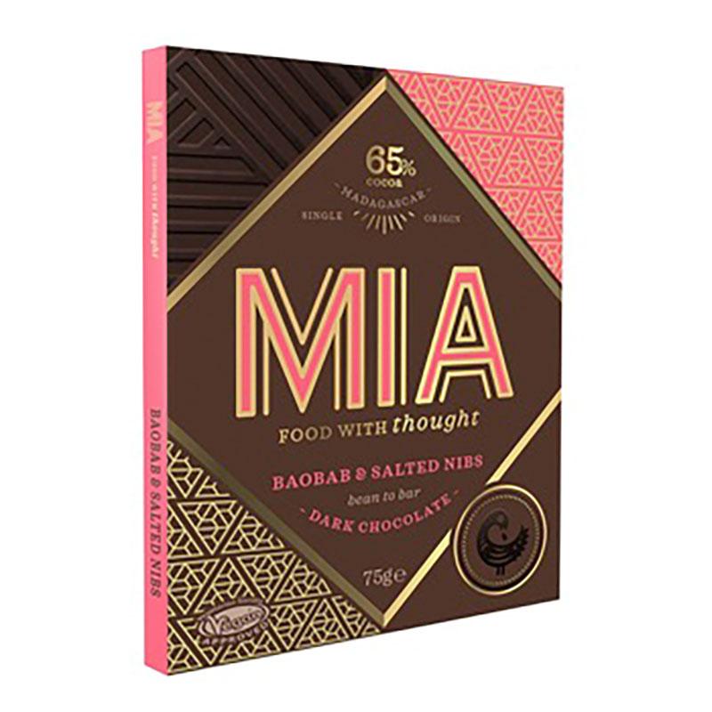 MIA   Dunkle Schokolade »Baobab & Salted Nibs« 65%