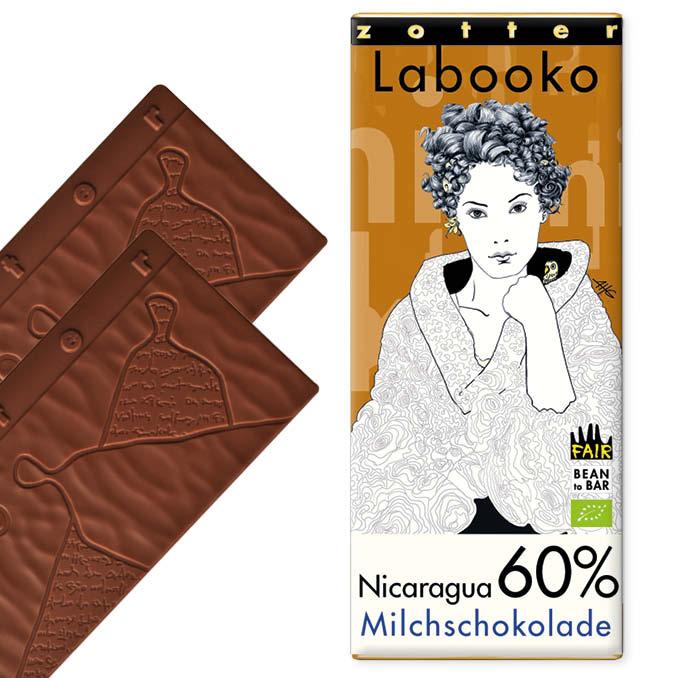 ZOTTER | »Labooko« Milchschokolade Nicaragua 60% | BIO