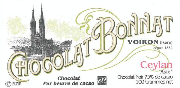 BONNAT Dunkle Schokolade | Chocolat »Ceylan« 75%