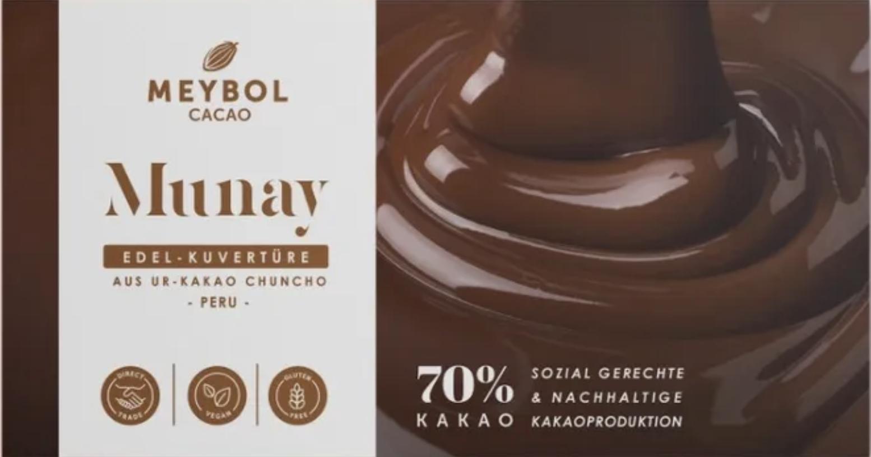 MEYBOL Cacao   Edel-Kuvertüre aus Chuncho-Urkakao »Munay« 70%