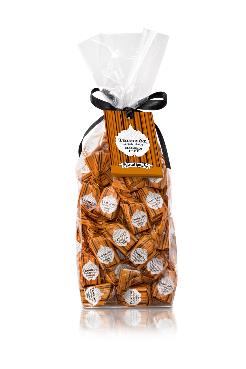 TARTUF LANGHE | Weißer Schokoladentrüffel Tartufo dolce »Caramello & Sale« 200g
