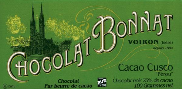 BONNAT Dunkle Schokolade | Chocolat »Cusco« 75%