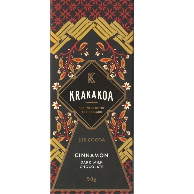 KRAKAKOA   Dunkle Milchschokolade & Zimt »Cinnamon« 53%